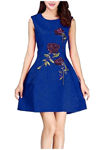 Coolred-femmes Élégante Robe Rose Accepter La Taille Bulle Broderie As2