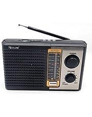 راديو قابل لإعادة الشحن 220 فولت 3 موجات اف ام وايه ام واس دبليو بمنفذ USB وبطاقة اس دي