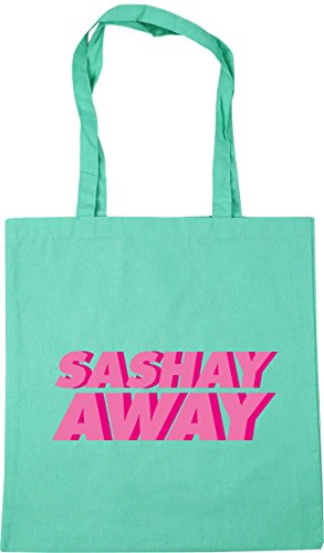 Gym Tote away litres x38cm Beach Shopping 42cm Mint HippoWarehouse Bag Sashay 10 EIpq11