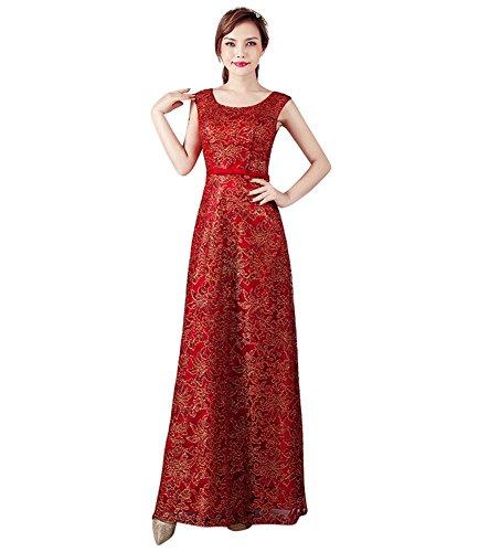 Drasawee Kleid Drasawee Empire Damen Rot Damen 5w04qO