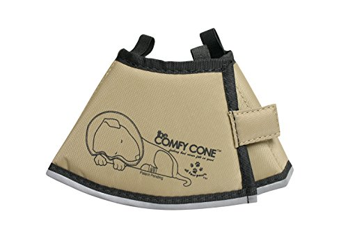 All Four Paws Comfy Cone Pet Collar, X-Small, Tan