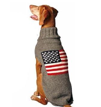 Amazoncom Chilly Dog American Flag Dog Sweater Large Pet