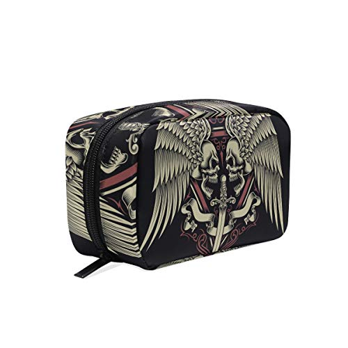 Makeup Bag Fly Angel Devil Skull Face Cosmetic Pouch Clutch ()