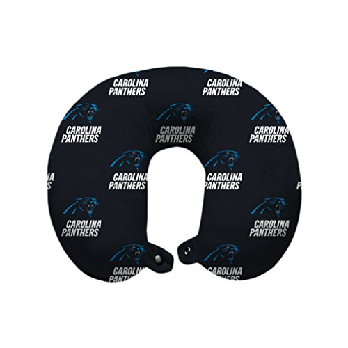 Pegasus Sports NFL Carolina Panthers Carolina Panthers U-Neck Polyester Travel Pillow, Panther Blue