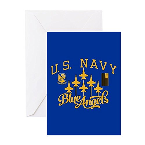 CafePress U.S. Navy Blue Angels Squadron Greeting Card, Note Card, Birthday Card, Blank Inside Matte