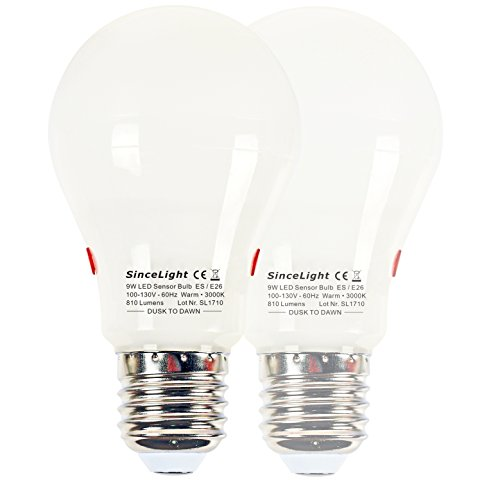 Led Light Bulb With Photocell - 9