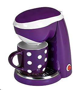 TKG Efbe Schott 1-Tassen-Kaffeeautomat Kaffeemaschine purple weiß Fa. Bowatex