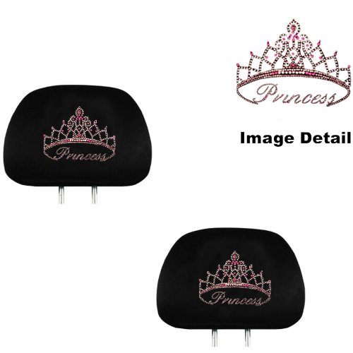 pink princess car seat covers - 9