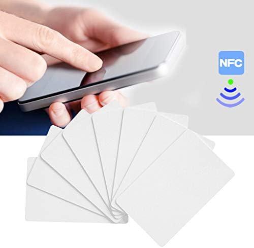 Haptian 10PCS NFC NTAG215 Weiße Karte für TagMo-Tags Chip-Aufkleber Tag Lable Forum Typ2-Aufkleber für NFC-fähige Geräte