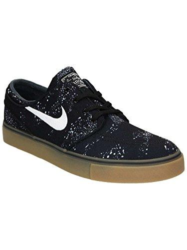 Nike Zoom Stefan Janoski Cnvs Prm, Zapatillas de Skateboarding para Hombre Negro (black/white-white-gum light brown)