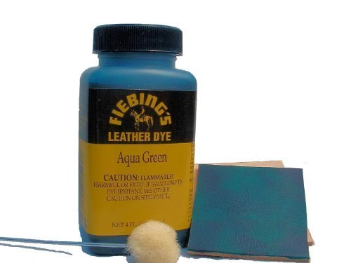 Fiebings - Leather Dye, Alcohol Based4 Fl.Oz. 118 Ml- 27 Colors, Aqua Green