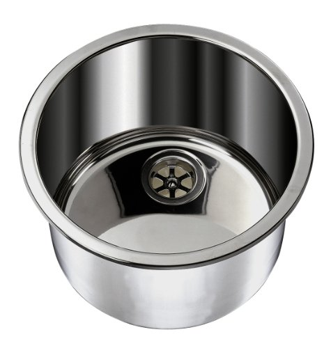 (Ambassador Marine Cylinder Stainless Steel Brushed Finish Sink, 11 1/2-Inch Wide x 5 1/4-Inch Deep)
