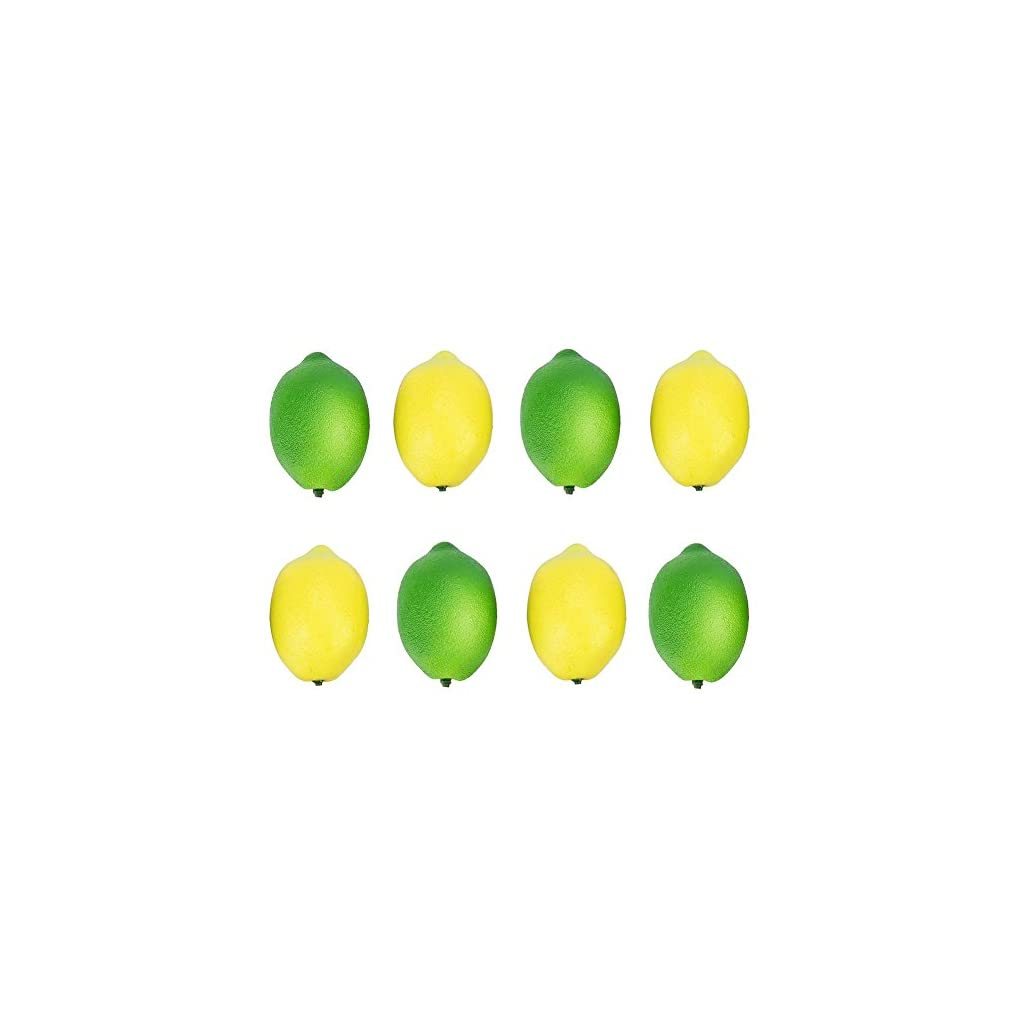 Buytra-8-Pack-Artificial-Fake-Lemons-Limes-Fruit-for-Vase-Filler-Home-Kitchen-Party-Decoration-Yellow-and-Green