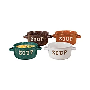 WalterDrake Stoneware Soup Bowls With Handles - Set Of 4