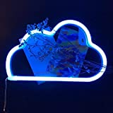 QiaoFei LED Cloud Neon Signs, Kid's Room Decor Neon Night Light for Party Supplies Girls Room Decoration Accessory