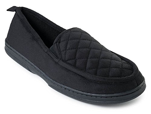 In Cotton Lining Fiallo Mens Colors J Terry Soft Back Quilted Classy Closed Suede Black Moc Slippers aSFyc4q7Ww