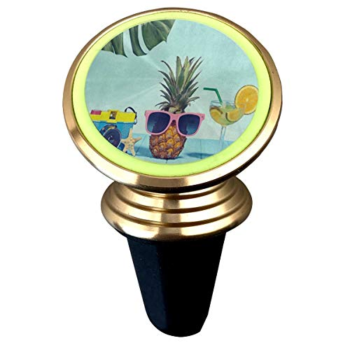 Magnetic Car Holder Rotation Universal Retro Camera Pineapple Fruit Starfish Tropical Leaves Custom Adjustable 360˚ Rotation Universal Car Mount Cell Phone Stand for Phone X/6/6s/7/8/8 Plus/7 -