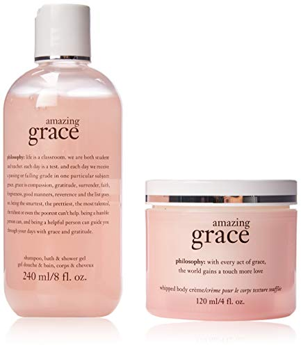 Philosophy Youre Amazing By Philosophy for Women – 2 Pc Set 8oz Shampoo, Bath Shower Gel Amazing Grace, 4oz Whipped Body Creme Amazing Grace, 2count