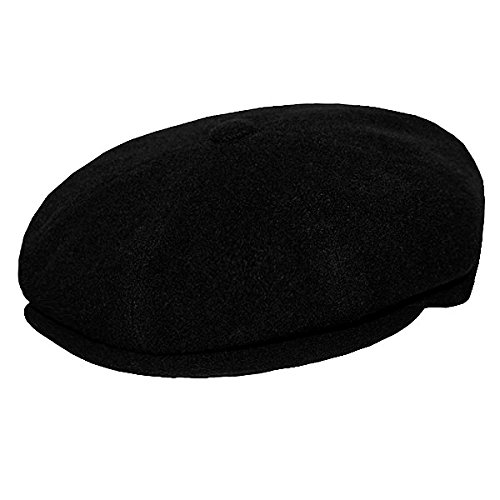 DelMonico Wool/Cashmere Newsboy Cap by Doria-Black-64