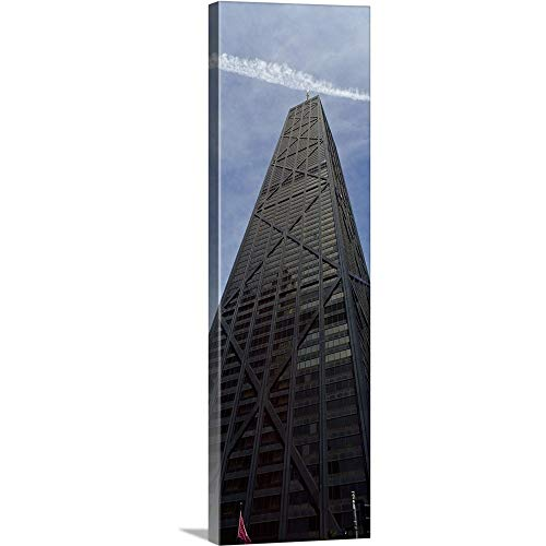 GREATBIGCANVAS Gallery-Wrapped Canvas Entitled Low Angle View of a Building, Hancock Building, Chicago, Cook County, Illinois by 20