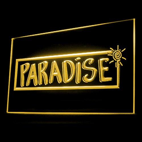 Tropical Paradise Bar Beach Tiki Party Display Accessible LED Light Sign 170082 Color (Paradise Tiki Bar)