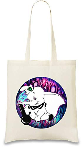 Use Cotton By Bong Bags Handbag amp; Day Smokes Éléphant Re Unique Soft Shoulder Tote Bag Printed Bang Elephant Color Every usable Eco Fume 100 friendly For Naturel Custom Frauen Stylish Natural If4wxqP