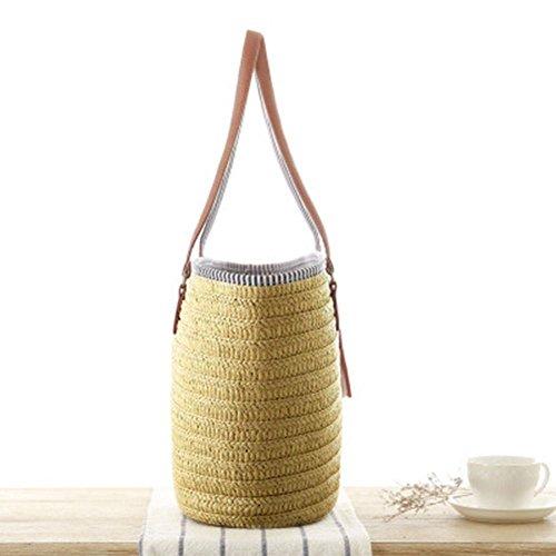 Tracolla Donne In Paglia Vintage Per Borsa Spiaggia Cachi Estate Da Demiawaking A Shopping Intrecciata Hgqwpx7An