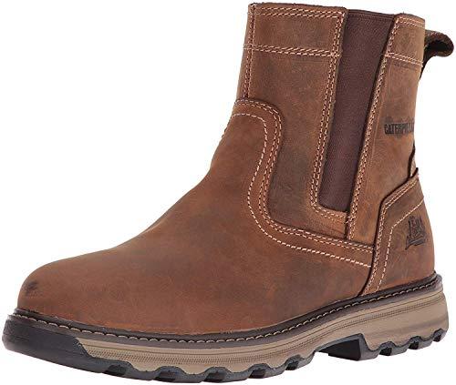 Caterpillar Men's Pelton Industrial & Construction Shoe, Dark Beige, 10.5 M US