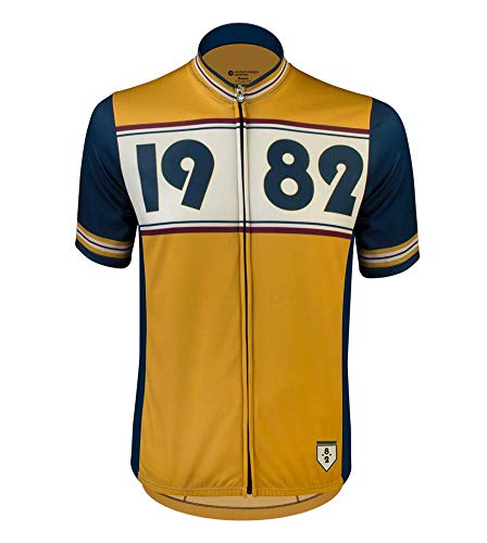 AERO|TECH|DESIGNS Vintage Cycling Jersey - Designer Retro Cycling Jersey - Made in The USA (XXX-Large, 1982 - Mustard) ()