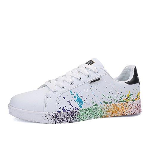 JEDVOO Uomo Donna Sneakers Scarpe da Ginnastica Basse Running Tennis Scarpe Foundation nero