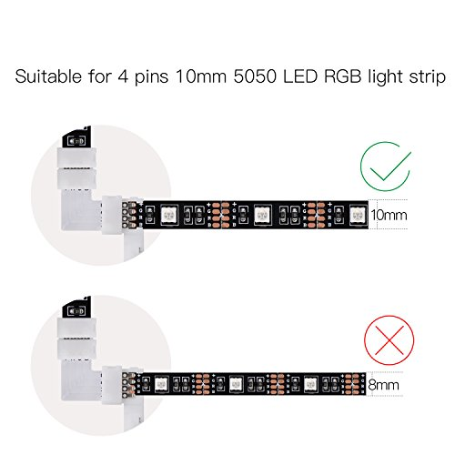 4-Pins-10mm-Connector-Non-waterproof-Quick-Splitter-for-35285050-SMD-RGB-LED-Flexible-Strip-Lights-Corner-Connector-Strip-to-Strip12v48w
