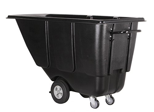Lifeyard 1/2 cu.yd Heavy-duty Tilt Trucks,500lbs Load Capacity,HDPE Material,Utility Hopper Type with Steel Frames Trucks for Commercial Use,D60