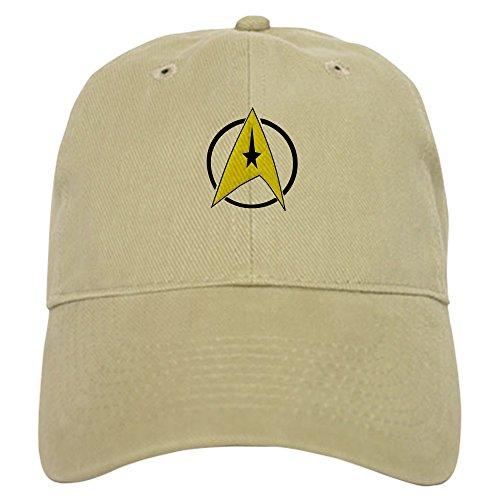 CafePress Star Trek Insignia Cap Baseball Cap with Adjustable Closure, Unique Printed Baseball Hat Khaki