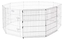 Universal Pet Playpen 2-Panel Extension Kit | Fits Metal 30-Inch Dog Pens | Kit Measures 30H x 47.50W Inches | Includes 4 Thumb Snaps, 2 Ground Stakes