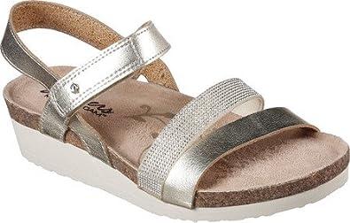 Skechers Women's Troos Simply Effortless Wedge Sandal Gold