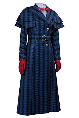 2 Fee Femmes Menage Manteau Femme Hommes Tianxinxishop Colore A Haute Rayures De Magique Raye Long Cosplay Costume Taille TS5q5FwA