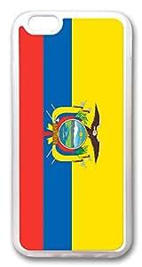 """ICORER iPhone 6 Plus Case 5.5"""" Ecuador Flag Slim Designer Apple iPhone 6 Plus Case and Cover TPU Rubber Transparent"""