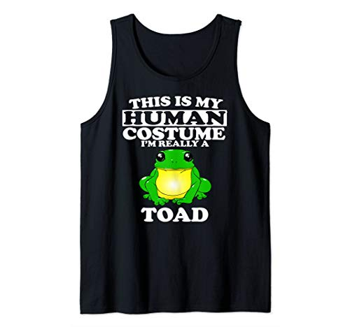 This Is My Human Costume I'm Really A Toad Frog Gift Tank Top