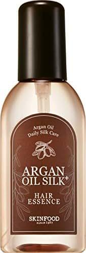 SKIN FOOD Argan Oil Silk Plus Hair Essence 3.38 fl. oz. (100ml) - Nourishing & Moisturizing Argan Oil Hair Essence, Hair Shining and Revitalizing for Dry and Damaged Hair