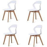 Conjunto de 4 sillas con Respaldo de plástico