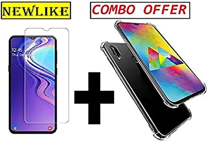 competitive price 62f94 15baa Newlike Samsung Galaxy M20, Tempered Glass & Back Cover, [Combo [Bumper]  Premium Real 2.5D 9H Anti-Fingerprints & Oil Stains Coating Hardness Screen  ...