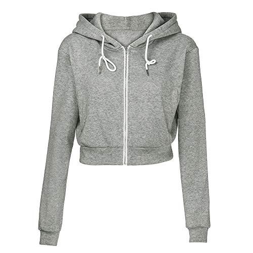 Orangeskycn Women Sweatshirt Full Zip Crop Hoodie Tops (Most Wished &Gift Ideas)