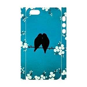Cool Painting LoveBirds Unique Design 3D Cover Case for Iphone 5,5S,custom cover case case623121