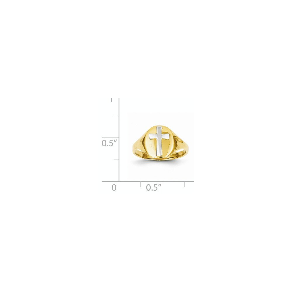 ICE CARATS 14k Yellow Gold Cross Religious Baby Band Ring Size 4.00 Fine Jewelry Gift Set For Women Heart by ICE CARATS (Image #4)