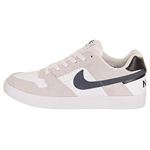 Nike Men's SB Delta Force Vulc White/Thunder Blue/Black Skate Shoe 8 Men US