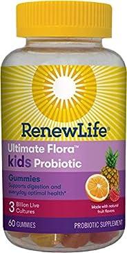 Renew Life Kids Probiotic - Ultimate Flora Kids Probiotic Gummies Probiotic Supplement- Dairy & Soy Free -