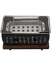 Fauge 2-4 People Japanese Barbecue Grill Portable Barbecue Stove Japanese Food Charcoal Stove with Non-Stick Baking Tray