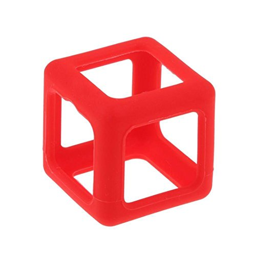 OVERMAL Cube étui de protection-Pour Fidget Cube Stress Relief Focus Toy Housse de protection (Rouge)