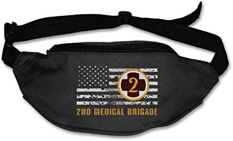第2医療旅団ユニセックス屋外ファニーパックバッグベルトバッグスポーツウエストパック