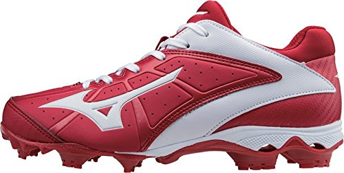 Mizuno Donna 9 Spike Adv Finch Elite 2 Tacchetti Softball Modellati A Passo Veloce Rosso-bianco